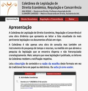 Coletânea de Legislação de Direito Económico, Regulação e Concorrência